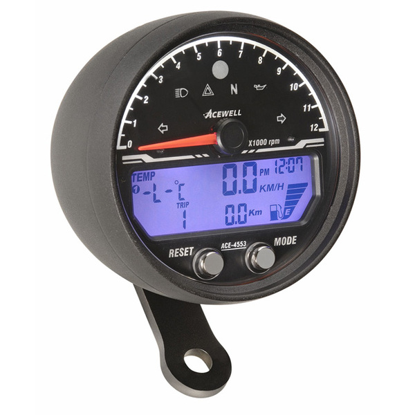Acewell, LCD Digital Sdometer with Black Anodised Housing and Traditional on