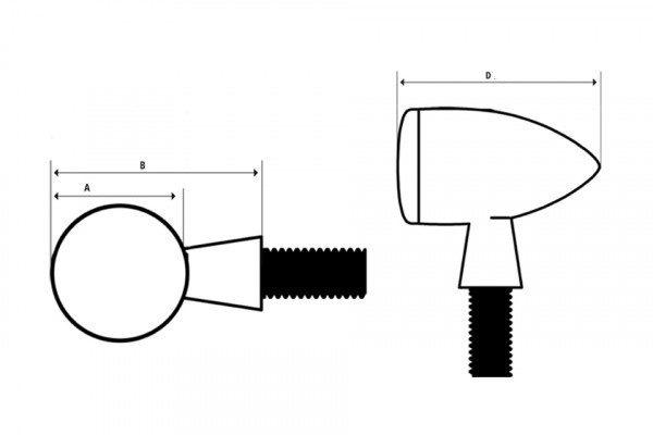 Apollo Classic LED Motorcycle Motorbike Indicator Units Pair Chrome